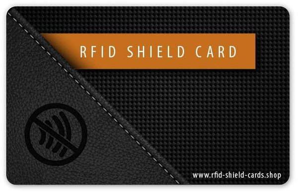 RFID SHIELD CARD - Leder Carbon