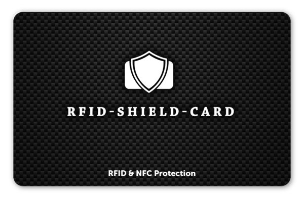 RFID SHIELD CARD - Carbon