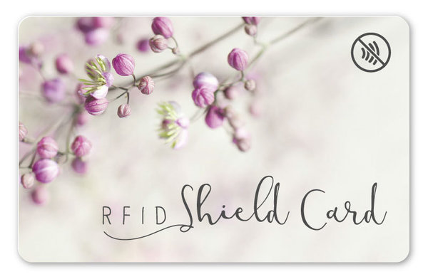 RFID SHIELD CARD - Blüten
