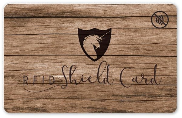 RFID SHIELD CARD - Holz
