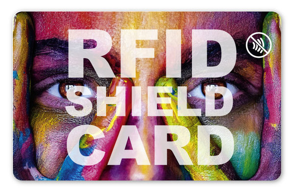 RFID SHIELD CARD - Letters negativ